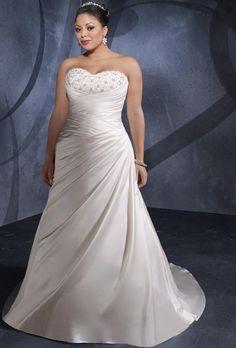plus size dropped waist wedding dresses | ... Discount Ivory Sweetheart Dropped Waist Plus Size Bridal Dress kw004