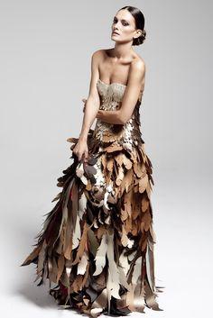 ℘ Paper Dress Prettiness ℘ art dress made of paper - Wanda Barcelona..