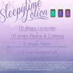 Sleepytime Lotion for restless babies children insomnia anxiety sleep troubles bedtime routines. From Young Living Essential Oils