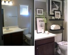 find this pin and more on projects to try bathroom decorating tips downstairs bathroom idea - Apartment Rental Decorating Ideas