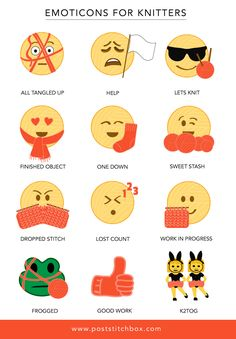 Emoji for knitters. If only these existed!