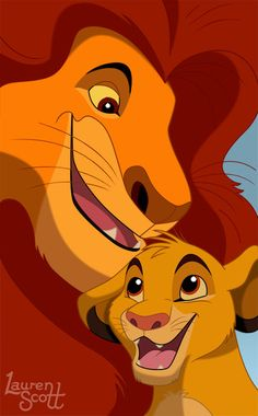 Simba and Mufasa by Teh-Scotty.deviantart.com on @deviantART