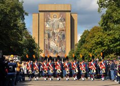 """The Irish Guard. Like the Irish?  Be sure to check out and """"LIKE"""" my Facebook Page https://www.facebook.com/HereComestheIrish  Please be sure to upload and share any personal pictures of your Notre Dame experience with your fellow Irish fans!"""