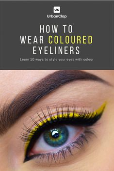 Learn how to use coloured eyeliner on the #waterline, coloured eyeliner ideas for #browneyes, for #darkskin, #blue eyeliner looks, #green eyeliner looks, the best eyeliners from #Nyk, and other eye makeup products, and more! #SimpleEyeliner Hooded Eye Makeup, No Eyeliner Makeup, Pencil Eyeliner, Eyeliner Ideas, Eyeliner Waterline, Eyeliner Tattoo, Hooded Eyes, Glitter Makeup, Perfect Eyeliner