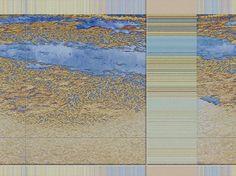 """'Stoffdesign """"blaubraun 150""""' von Rudolf Büttner bei artflakes.com als Poster oder Kunstdruck $18.71"""