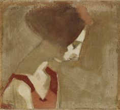 Helene Schjerfbeck, Girl with a Swan Neck, oil on canvas, 38 x 42 cm Helene Schjerfbeck, Helsinki, Figure Painting, Painting & Drawing, Art Du Temps, Female Painters, Abstract Images, Portrait Illustration, Portrait Art