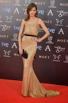 Nieves Álvarez in Ralph and Russo - Goya Awards Red Carpet 2014