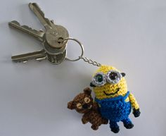 Crochet pattern Minion Bob keychain