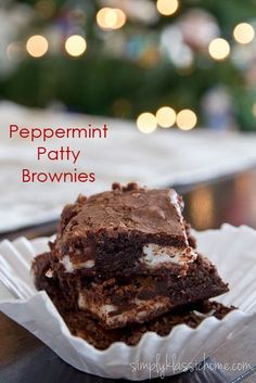 Peppermint Patty Brownies | Christmas Desserts