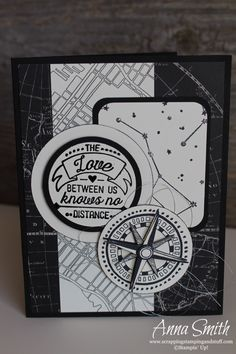 Sneak peek of the Stampin' Up! Going Places Stamp Set! This stamp set and paper are great for men and masculine cards. I love the black and white!