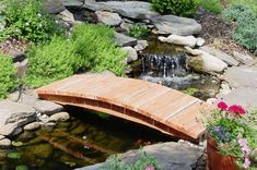 This fully assembled low-arch Japanese garden bridge is easy to install and features a reliable wooden construction to help you enhance your Japanese garden landscape or koi pond.