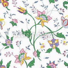 Little Flowers Repeat Pattern designed by Viktoryia Yakubouskaya Floral Flowers, Blue Flowers, Vector Pattern, Pattern Design, Vektor Muster, Floral Artwork, Filigree Design, Little Flowers, Fabric Wallpaper