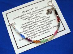 Image result for Lord S Prayer Beaded Bracelet