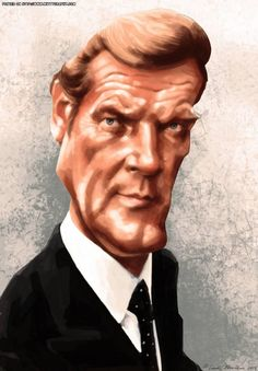 Roger Moore (caricature)