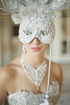 Fabulous mask - Atlanta Wedding Magazine - Hair and Make up by John and Kathy