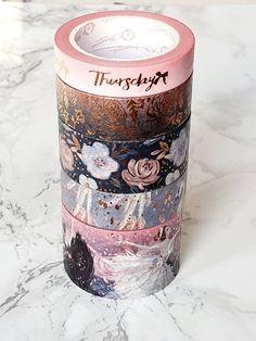 Bloomsical Washi Sample Set - Sunset Rose Ballet by PlannerGirluk Washi Tape Planner, Washi Tape Diy, Washi Tapes, Duct Tape, Masking Tape, Dragon Wallpaper Iphone, Scrapbook Journal, Scrapbook Cards, Scrapbooking
