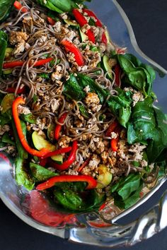 Soba Noodle Salad with Turkey & Spinach…You might not be able to stop at just one serving of this delicious dinner salad! 286 calories and 5 Weight Watchers Freestyle SP