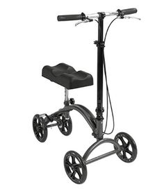 Knee Scooter Knee Walker by Healthline, Steerable Knee Scooter for Broken Foot Foldable - Knee Crutch Alternative Scooter - Steerable Knee Walker with Dual Brakes and Basket and Pad Cover Cushion, Black Knee Scooter, Broken Foot, Crutches, Sprain, Medical Equipment, Alternative, Scooters, Health, Bunion Surgery