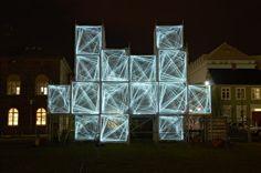 'Pixel Cloud', project winner of IcelandWinter lights Festival in Reykjavik. Designed by Marcos Zotes