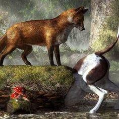 Hunting Art, Fox Hunting, Art Through The Ages, Film Disney, Fox Decor, Classic Paintings, Vintage Paintings, The Fox And The Hound, Fox Art