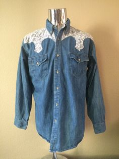 Vintage Apparel Men's 80's Express Rider Western by Freshandswanky