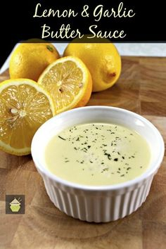 Lemon and Garlic Butter Sauce - Lovefoodies