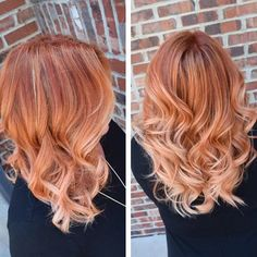 Strawberry blonde hair color ideas and hairstyles. Best photos with strawberry blonde hair that you will fell in love with. Ginger Hair Color, Strawberry Blonde Hair Color, Vivid Hair Color, Cool Hair Color, Hair Colors, Blonde Hair Models, Red Blonde Hair, Balayage Hair Blonde, Black Hair