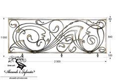 "Author's forged stairs ""ArtDeco"" by Balcony Railing Design, Window Grill Design, Door Gate Design, Fence Design, Art Nouveau Tattoo, Iron Stair Railing, Railings, Metal Worx, Interior Design Dubai"