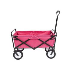 Mac Sports WTC118 Collapsible Folding Outdoor Golf Utility Wagon Pink, New  #MacSports