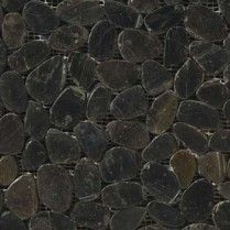 Emser Tile:_RIVERA_PEBBLES(TM)Flat_Pebbles____Black