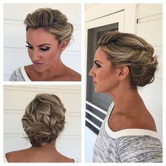 Romantic bridesmaid hair