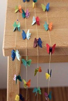 Cómo decorar una habitación con cortinas de mariposas de papel Solountip.com: DIY
