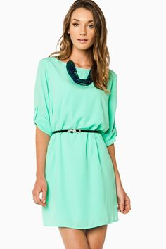 April Shift Dress in Mint / ShopSosie #shopsosie #sosie