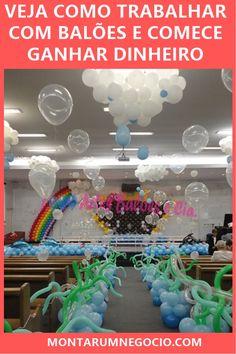 Aprenda como trabalhar com balões e descubra como várias pessoas estão lucrando com esse tipo de trabalho Marketing, Business, Personalized Balloons, Business Tips, Store, Business Illustration