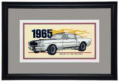 1965 Mustang Classic Hot Rod, counted cross-stitch