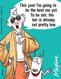 New Year's resolution - Maxine
