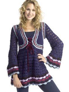 Renaissance Tunic | Yarn | Free Knitting Patterns | Crochet Patterns | Yarnspirations