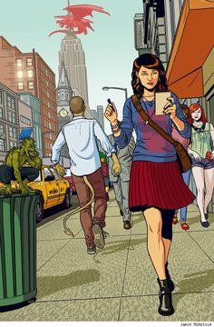 """""""The Shambling Guide To New York City"""" cover by Jamie McKelvie  Read More: Best Art Ever (This Week) – 02.22.13 