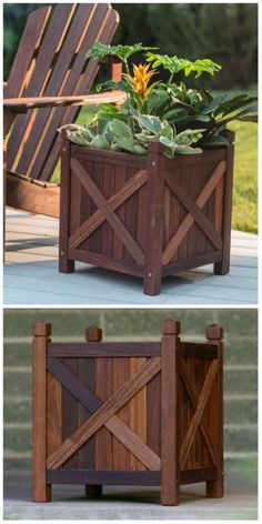 Upcycled-Wood-Pallet-Planter.jpg (630×1260)