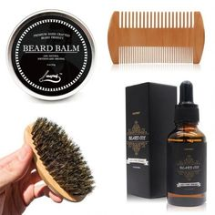 Aptoco Beard Grooming and Trimming Kit for Men Care, Beard Brush, Beard Comb, Unscented Beard Oil and Beard Balm – Bobbie Pierce Jewelry Beard Oil And Balm, Beard Balm, Mens Beard Grooming, Men Beard, Epic Beard, Natural Beard Oil, Beard Brush, Perfect Beard, Bearded Men
