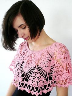 #Crochet cape SpringLove