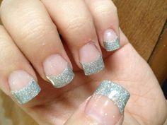 Glitter acrylic tips