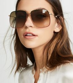 Yep, I Just Uncovered 43 Epic Finds From the Shopbop Sale - Sunglasses Flat Top Sunglasses, Round Lens Sunglasses, Cute Sunglasses, Oversized Sunglasses, Cat Eye Sunglasses, Sunglasses Women, Vintage Sunglasses, Gucci Sunglasses, Fake Glasses