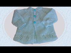 COMO FAZER CASAQUINHO DE BEBÊ EM TRICÔ (O A 3 MESES) - YouTube Baby Cardigan, Baby Hoodie, Knitting For Kids, Baby Knitting, Crochet Baby, Tricot Baby, Knitting Videos, Barbie Dolls, Baby Shoes