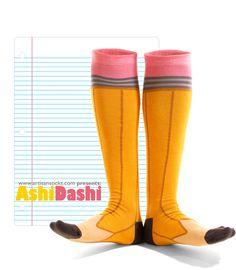"#2 Pencil Knee High Sock for people who love all the ""write"" stuff."