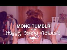 "Moño despeinado ""tumblr"" | Happy Sunny Flowers ♡ Aussie Hair Spain - YouTube"