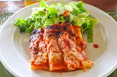Canneloni with salad Las Caletas Lodge Caletas Beach, Osa Peninsula Costa Rica #vacation #family #food #cool