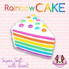 Squishy rainbow cake