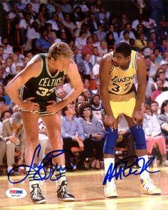 6ca3d7a16c02 Magic Johnson   Larry Bird Autographed 8x10 Photo PSA DNA