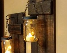 Rustic Wood Candle Holder Rustic Decor by TeesTransformations